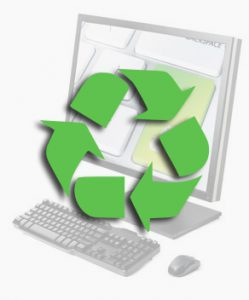 Recycling and destruction of computer equipment.