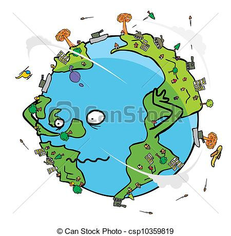 Vector Clip Art of Poor earth.