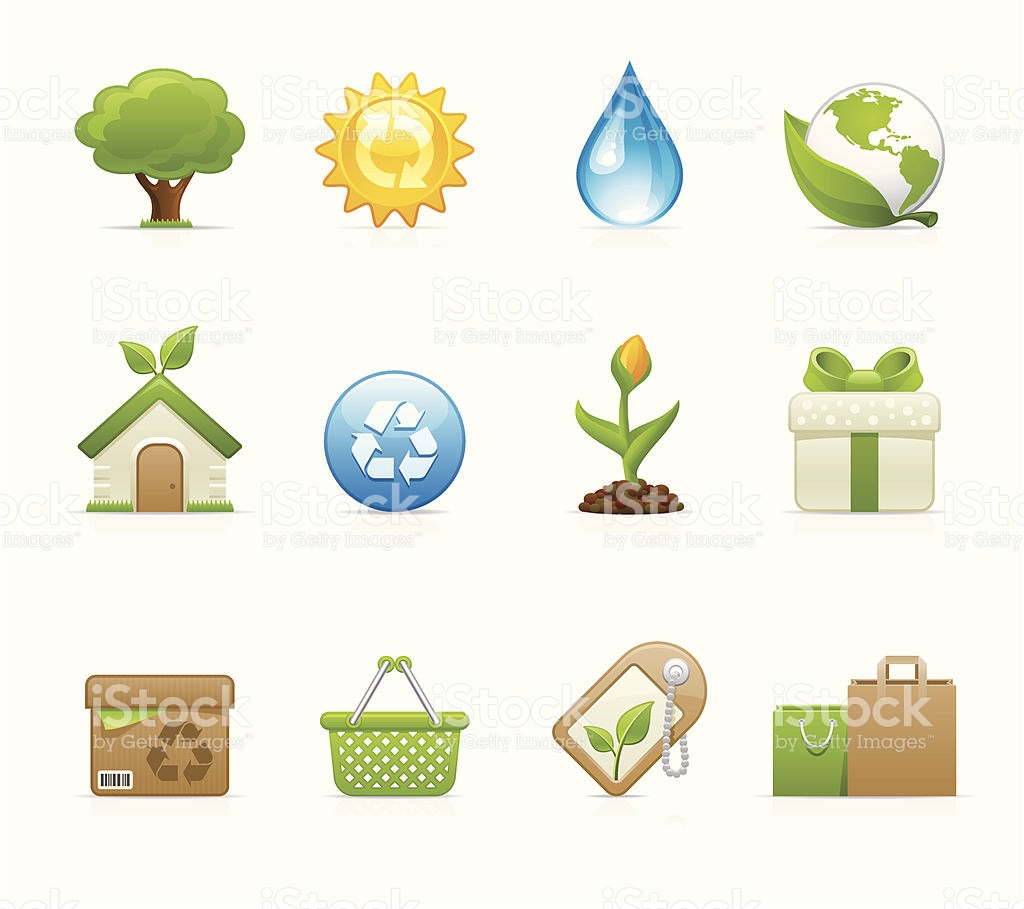 Velvet Icons Environmental Conservation stock vector art 165694875.