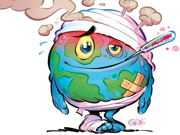 Climate change, Global warming, Environmental issues.