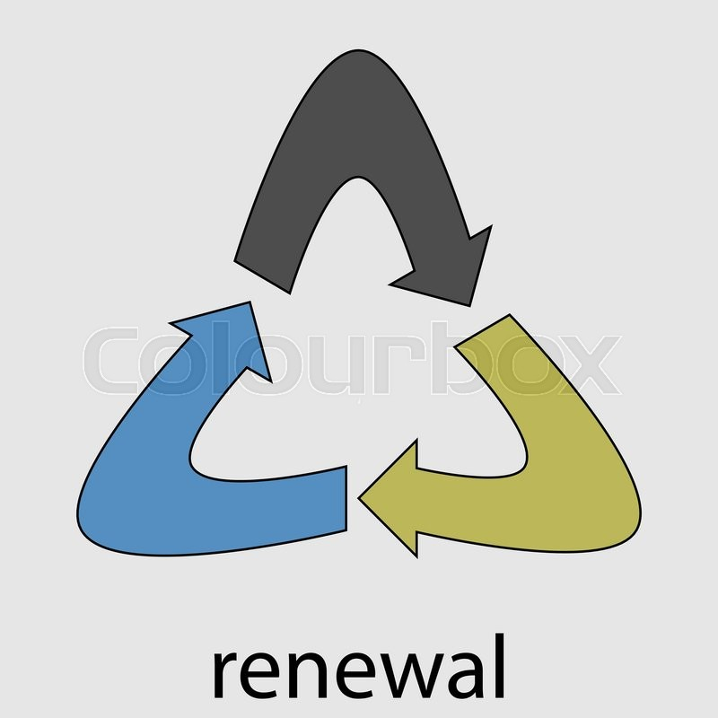 Renewal energy icon. Renewable ecology, nature power eco.
