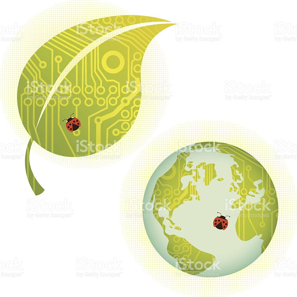 Environmental Technology Symbols stock vector art 165752177.