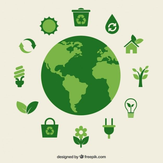 Descarga gratis vectores de Eco tierra e iconos verdes.
