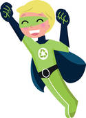 Stock Illustration of Earth Defender Super Hero Environmentalist.