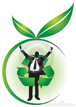 Business Team On Green Environment Background Royalty Free Stock.