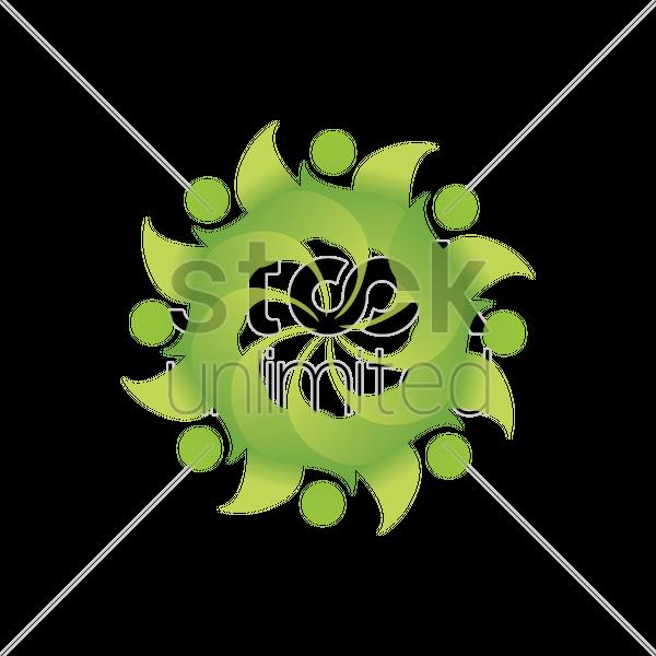 Environment friendly logo element Vector Image.