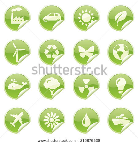 Green Vector Icons Show Forms Recycled Stock Vector 18457582.
