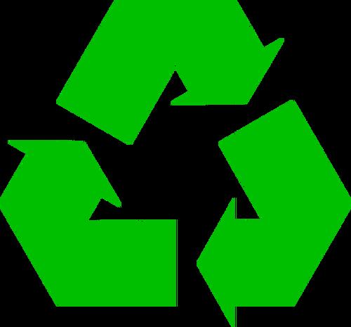 Green environmentally friendly icon illustration.