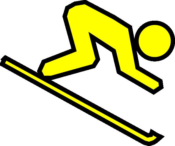 Skier Cartoon.