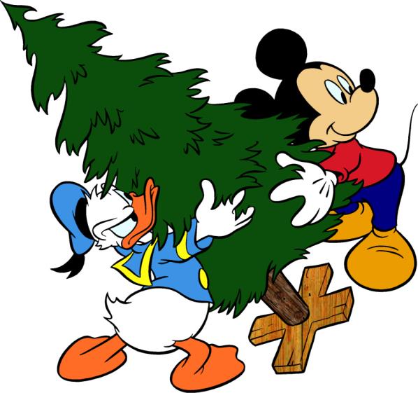 Christmas Donald Duck Clipart.