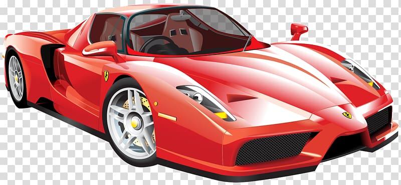 Sports car Enzo Ferrari LaFerrari, car transparent.