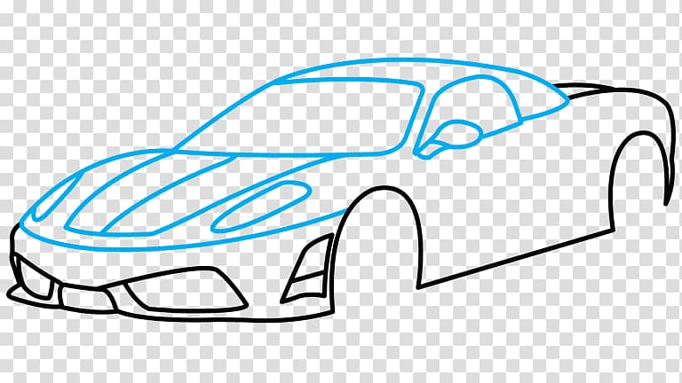 Sports car Enzo Ferrari Drawing, car transparent background.