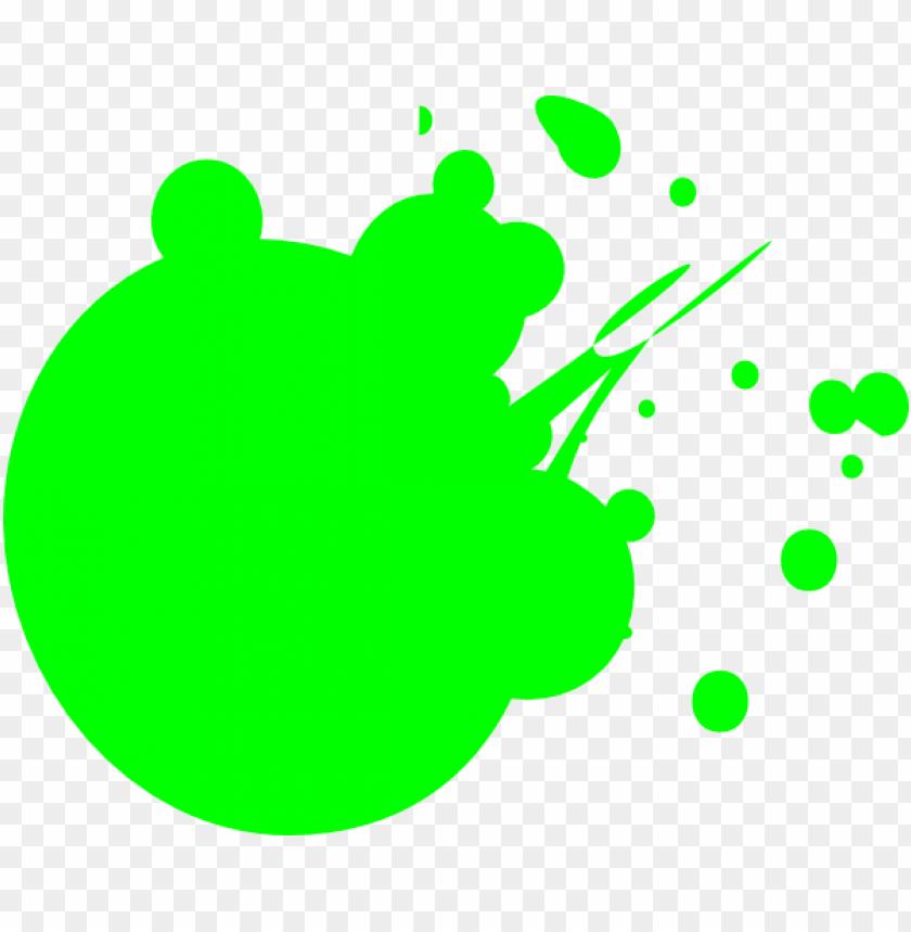 eon green dot splat clip art.