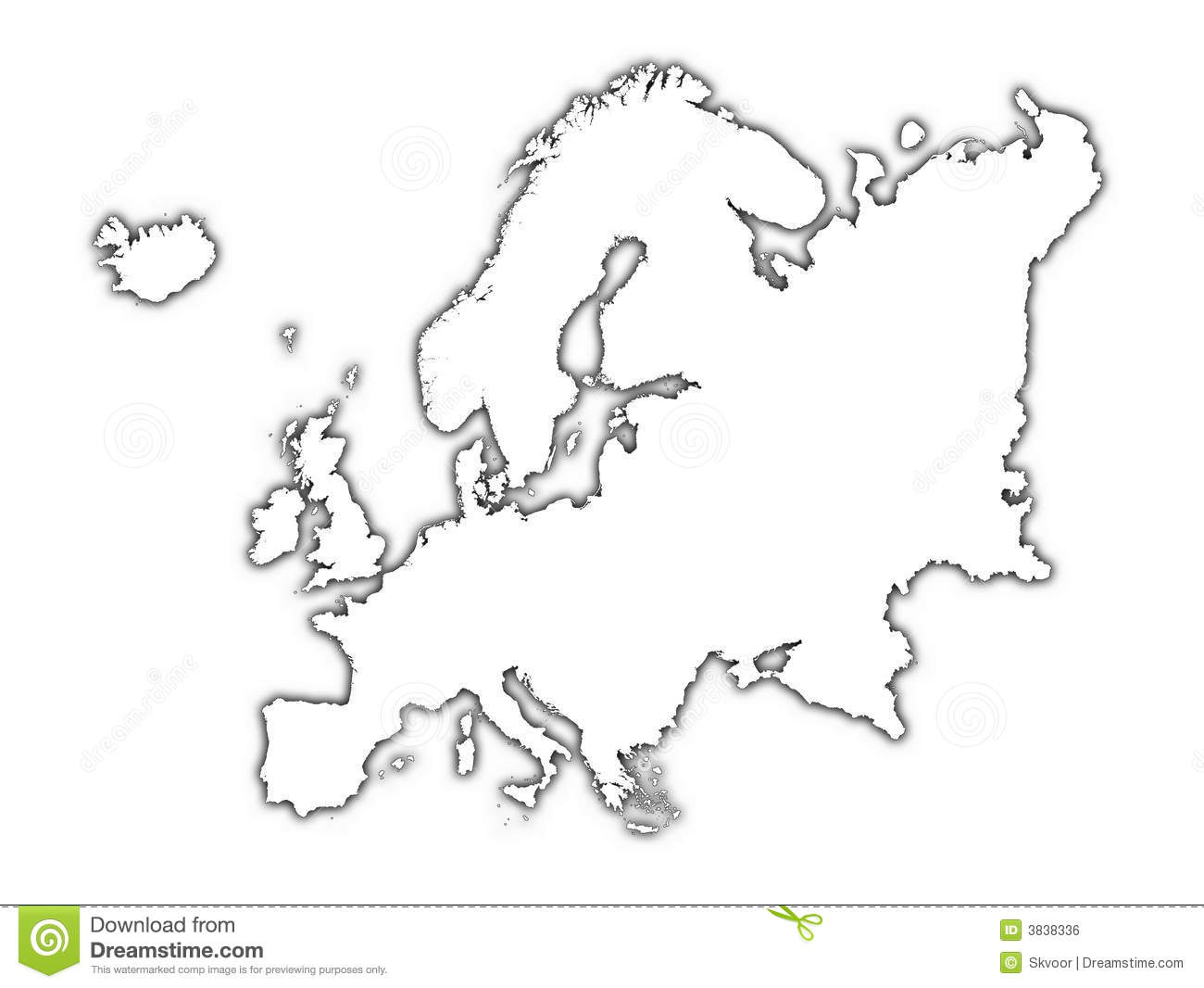 Outline Map Of Europe Stock Vector.