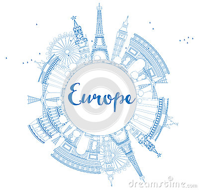Europe Outline Stock Photography.