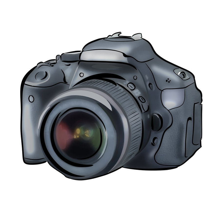 This is a photo of Crafty Canon Camera Drawing