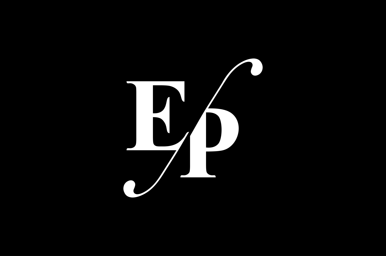 EP Monogram Logo Design By Vectorseller.