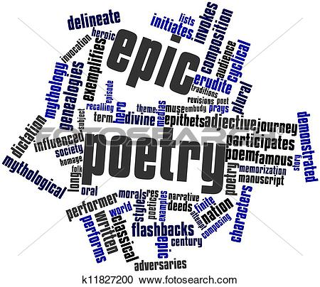Stock Illustrations of Epic poetry k11827200.
