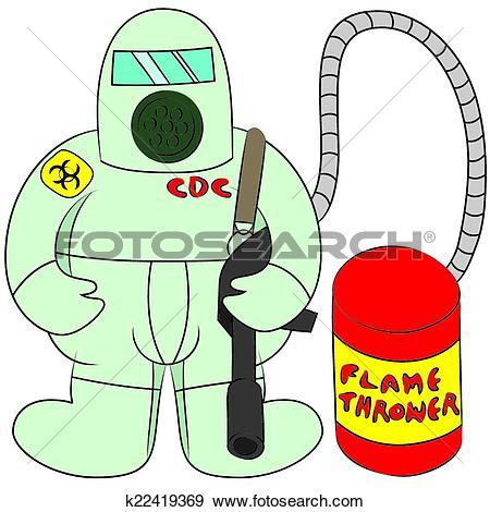 Clip Art of disease outbreak k22419369.