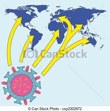 Vector Illustration of Influenza.