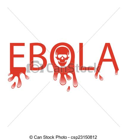 Clipart of Ebola Typography Illustration.