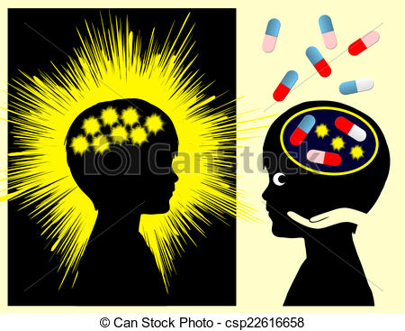 Clipart of Epilepsy Concept Sign.