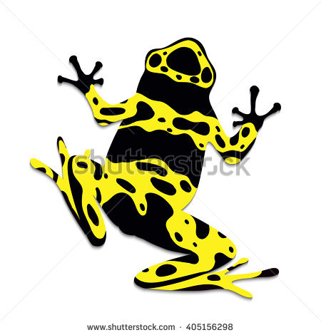 Blue Poison Dart Frog Flat Design Stock Vector 392495161.