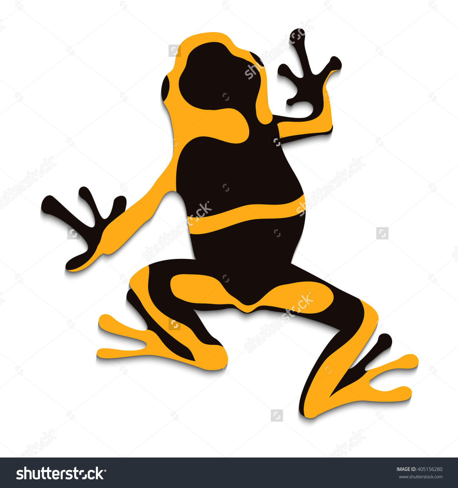 Poison Frog Flat Design Vector Illustration Stock Vector 405156280.