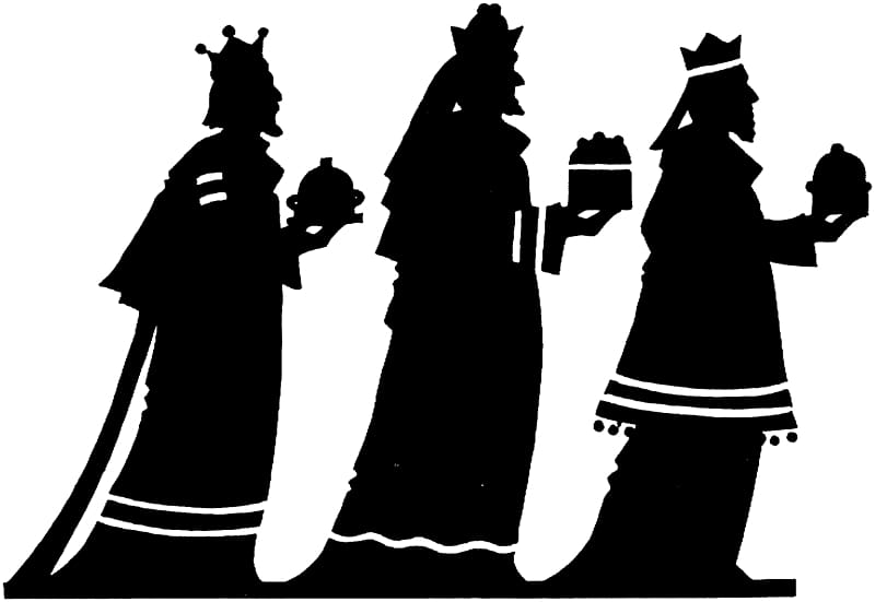 Adoration of the Magi Biblical Magi Epiphany Silhouette.