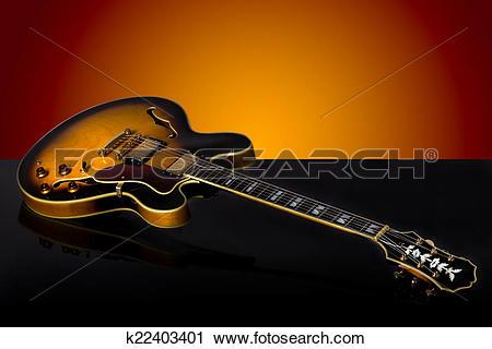 Stock Photography of Epiphone Guitar detail studio shot. Beautiful.