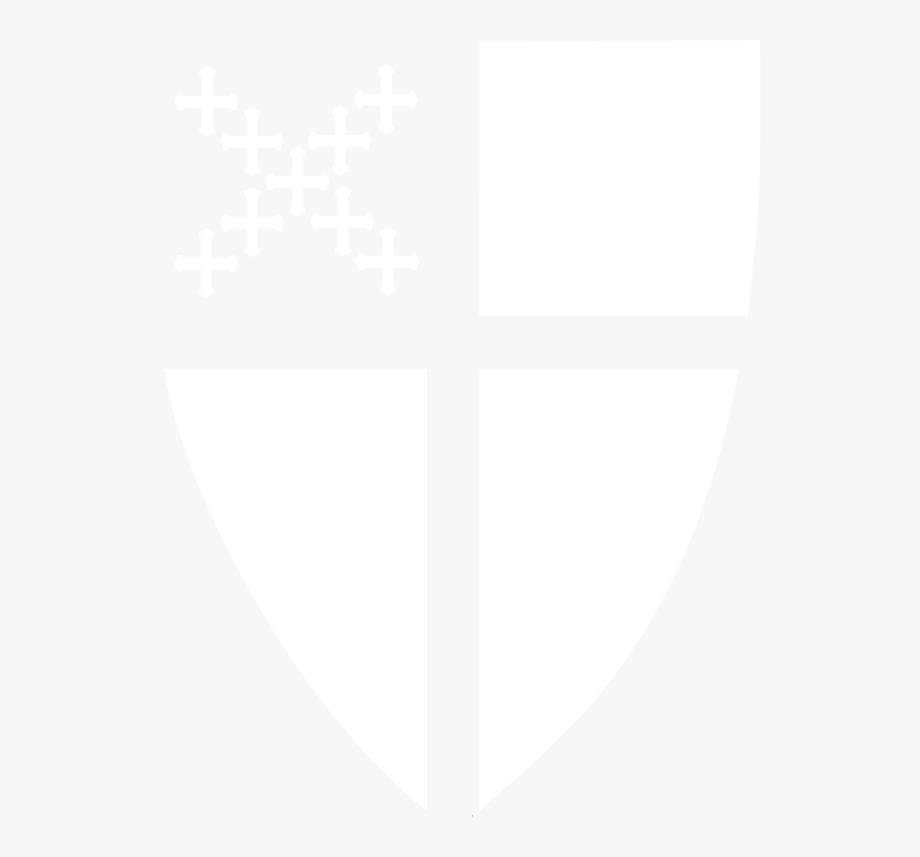 Episcopal Shield Reversed White.