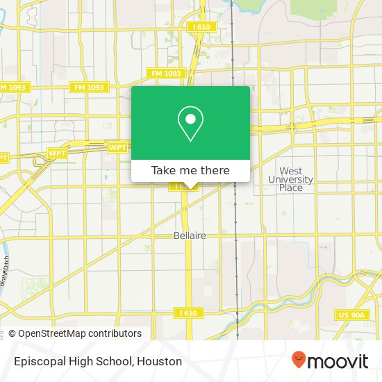 How to get to Episcopal High School in Bellaire by Bus or.