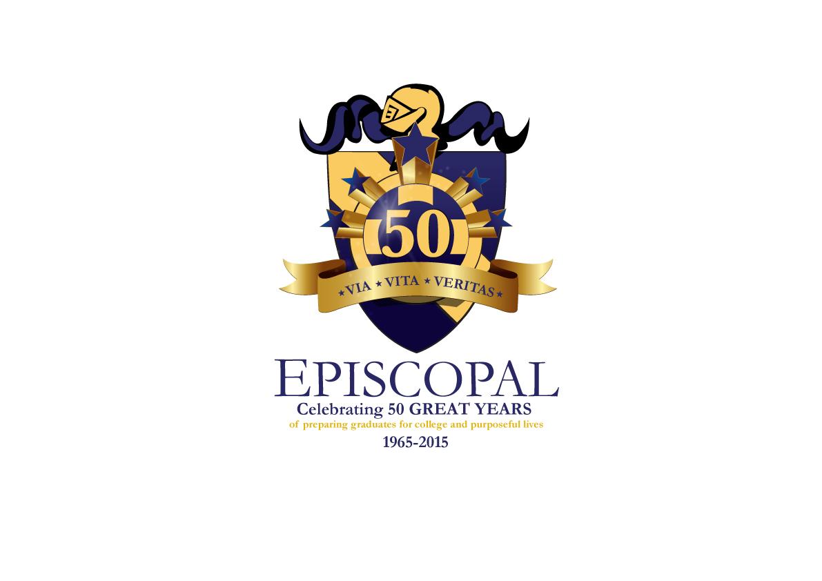 School Logo Design for EPISCOPAL Celebrating 50 great years.