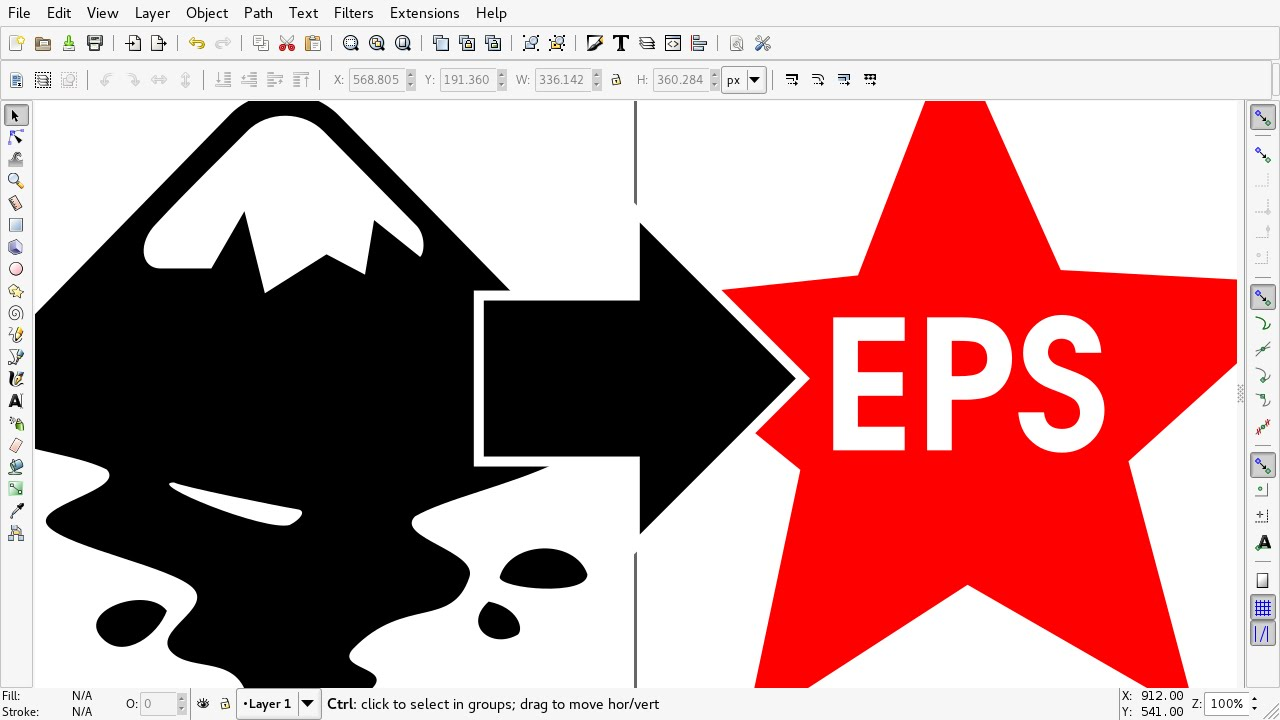 How To Make .EPS file in Inkscape.