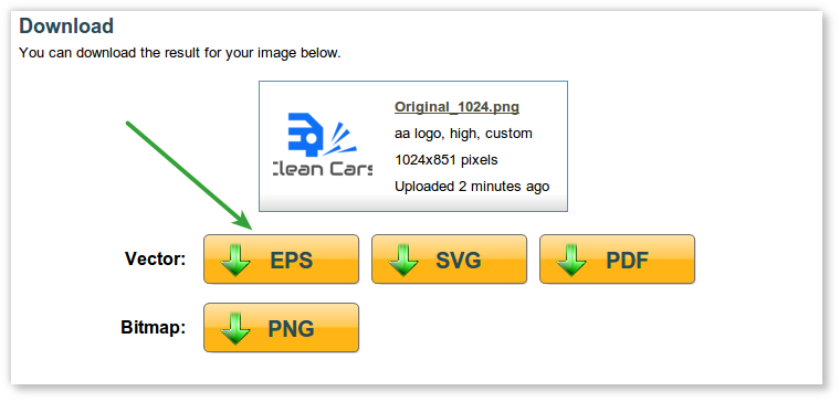 How to convert logo to EPS format?.