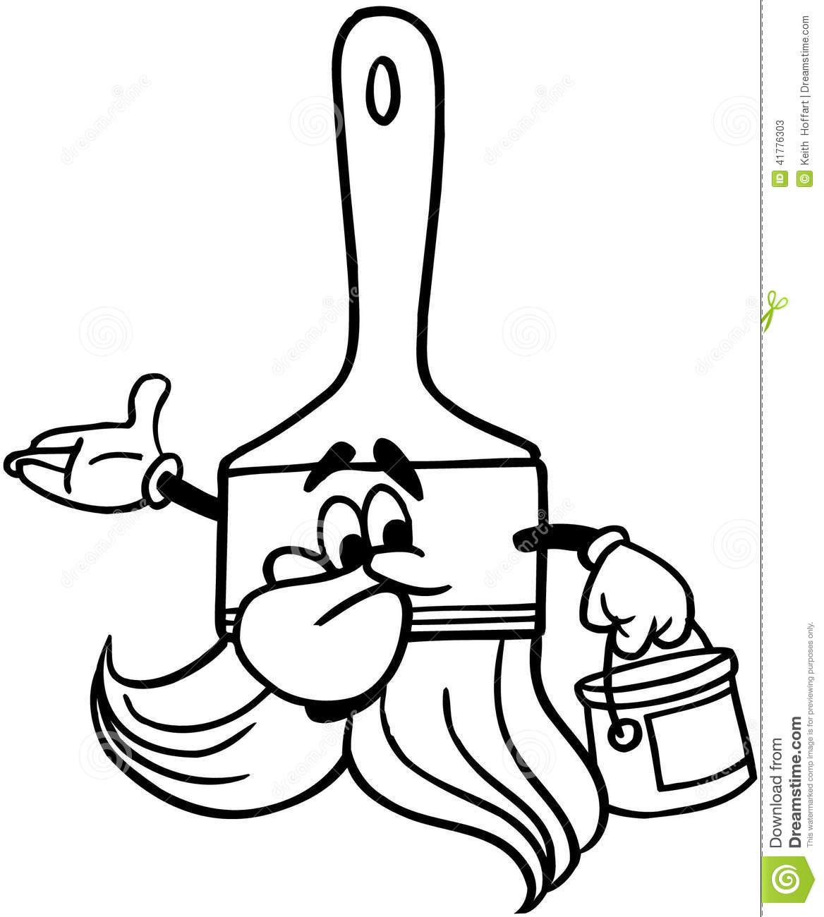 Paint Brush Cartoon Vector Clipart Stock Vector.