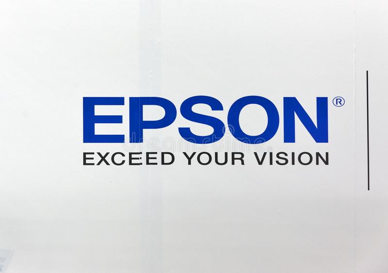 Epson Logo On Booth During CEE 2017 In Kie #220972.