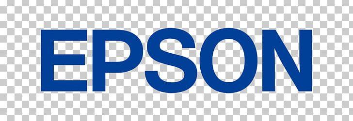 Logo Epson Printer Business Canon PNG, Clipart, Area, Blue.