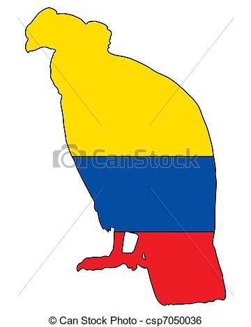 Clip Art Vector of Andean Condor Ecuador csp7050036.