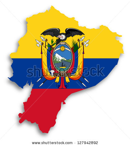 Ecuador Map Stock Photos, Royalty.