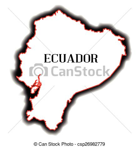 Vectors Illustration of Ecuador.