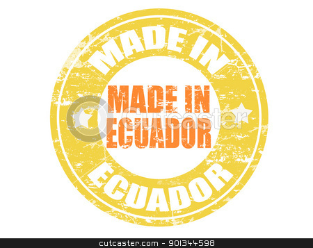 Made in Ecuador stamp stock vector.