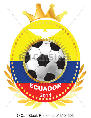 Clip Art of Ecuador coat of arms, seal or national emblem.