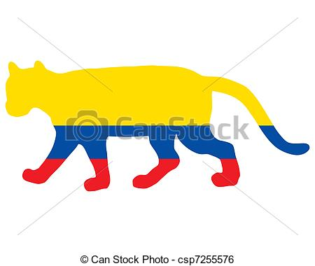 Clip Art Vector of Cougar Ecuador csp7255576.