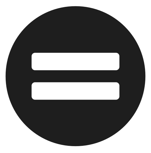 character, equal, math, sign icon.