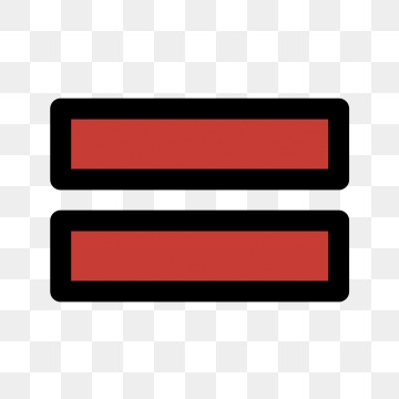 Equal To Vector Icon, Equalto, Interface, Math PNG and Vector with.