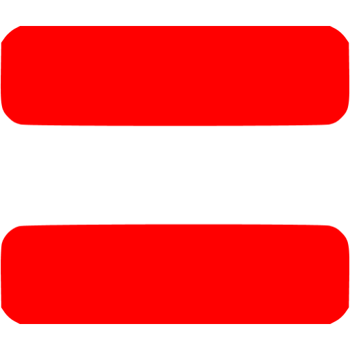 Red equal sign 2 icon.