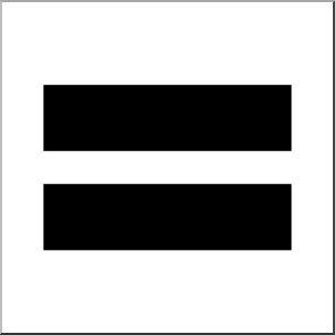 Showing post & media for Math clip art equal sign symbol.