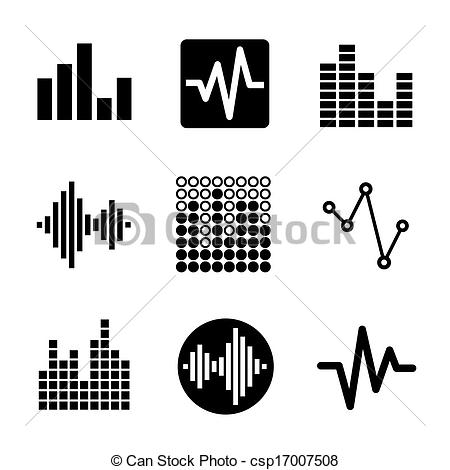 Equalizer Bars Clip Art.