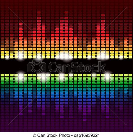 Vector Illustration of Rainbow equalizer vector background.